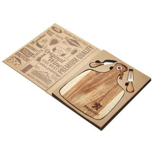 Acacia Cheese Board & Knife Set