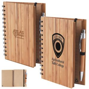 Amazon Bamboo Cover Notebook with Pen